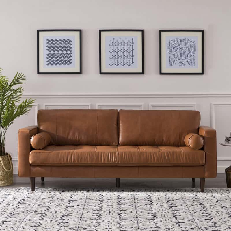 best cheap leather sofa