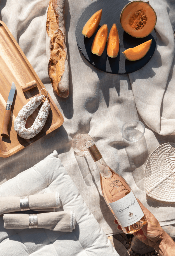 WHISPERING ANGEL IS DRUNK MORE IN THE UNITED STATES THAN ANY OTHER PROVENCAL ROSE.
